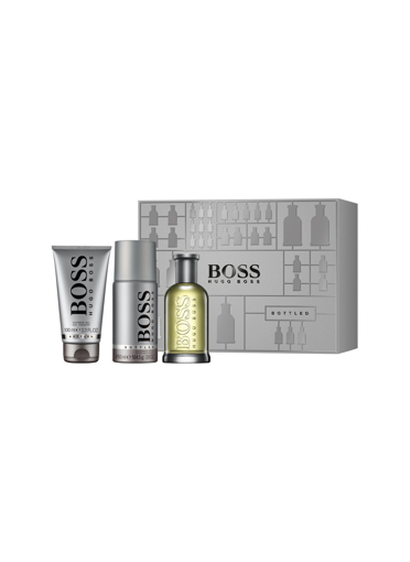 Boss Bottled homme EDT 100 ml + Deo Spray 150 ml + Duş Jeli 100ml resmi
