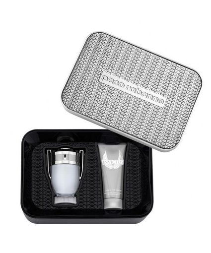 Paco Rabanne Invictus EDT 100 ml + Shower Gel 100 ml Erkek Parfüm Seti resmi